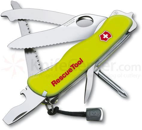 rescue tool victorinox swiss army rescue tool multi tool 4 3 8 quot yellow handles knifecenter 53900