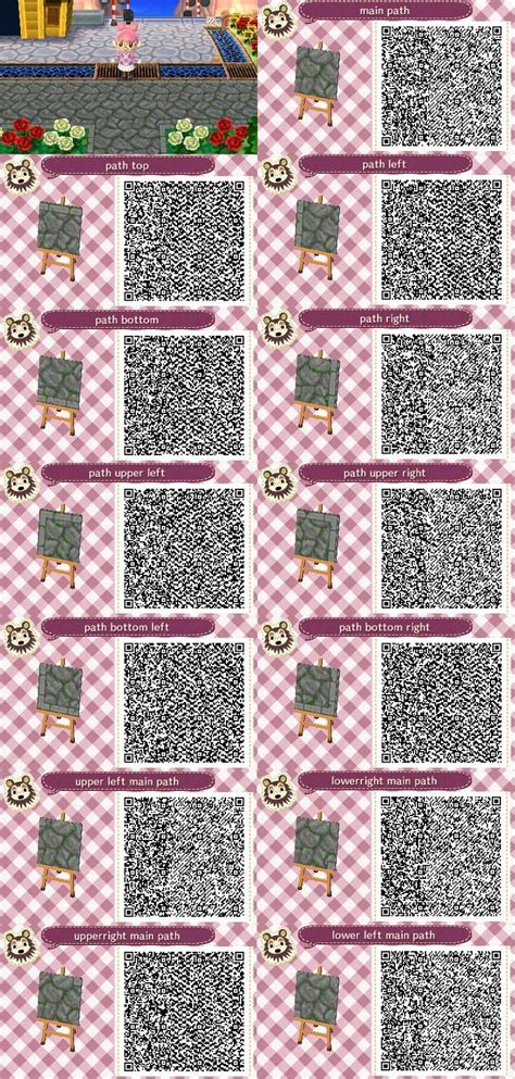 acnl qr codes paths 168 best images about acnl outdoor patterns walkways