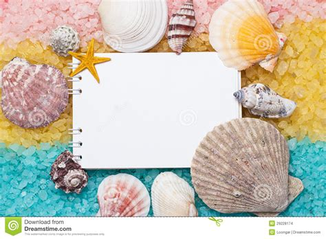 yellow and pink bathroom blue yellow pink bath salt and blank notepad stock images image 29228174