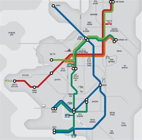jerusalem light rail map jerusalem city announces light rail line to run on