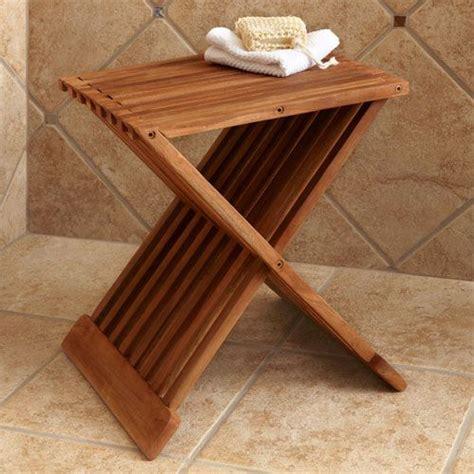 folding teak shower seat gardens oregon and teak