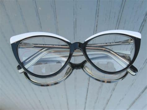 vintage retro cat eye glasses frames black white