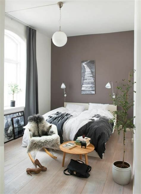 Wandfarbe Taupe Schlafzimmer by 1001 Ideen F 252 R Taupe Farbe Im Innendesign 45