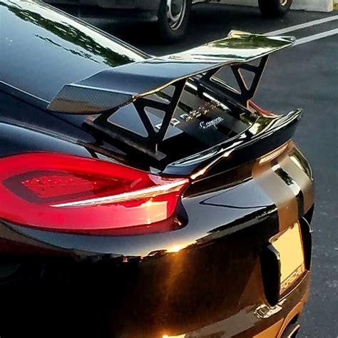 Porsche Cayman Rear Wing by 2013 2016 Porsche Cayman Gt Style Rear Wing Spoiler