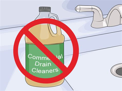 how to clean sink drain 3 ways to clean a bathroom sink drain wikihow