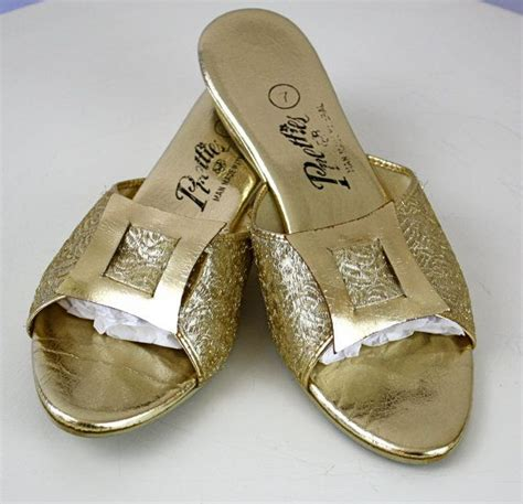 gold house slippers 17 best images about vintage houseshoes slippers on