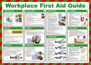 workplace first aid health and safety poster safety