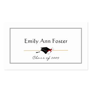 graduation name cards template word graduation name card business cards templates zazzle