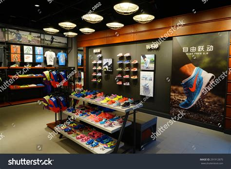 sporting shoes stores shanghai china june 30st 2015nike stock photo