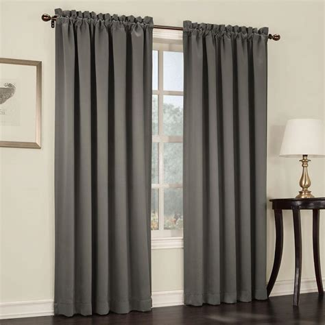 Curtain L 4 sun zero semi opaque steel gregory room darkening pole top curtain panel 54 in w x 63 in l