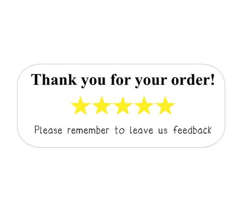 thank you for your reviews 40 rectangle thank you for your order leave review