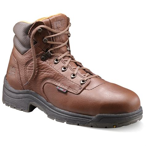 safety toe boots s 6 quot timberland pro 174 titan safety toe boots coffee