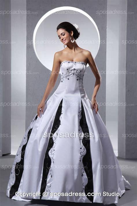 White Unique 2013 unique white and black embroider gown