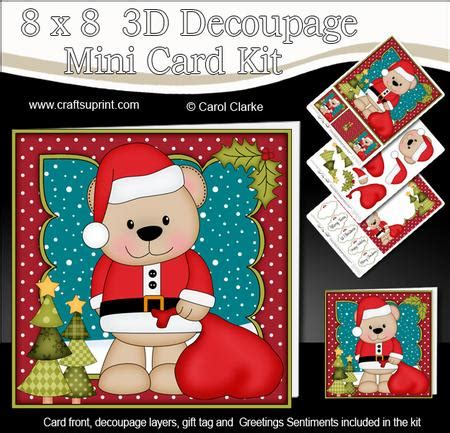 3d Decoupage Picture Kits - 8x8 livvy santa sack mini kit 3d decoupage