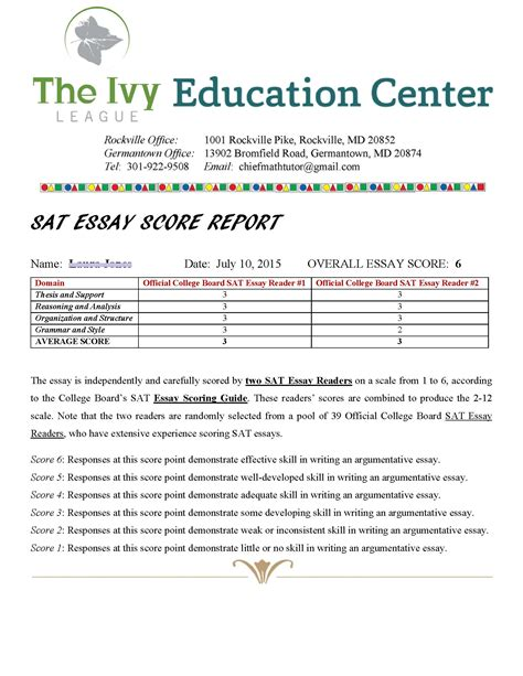 Essay Writing Sat by Sat Essay Scoring And Feedback League Education Center