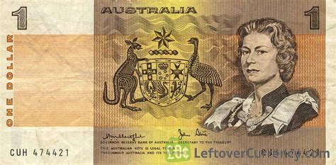 one australia 1 australian dollar banknote exchange yours for today