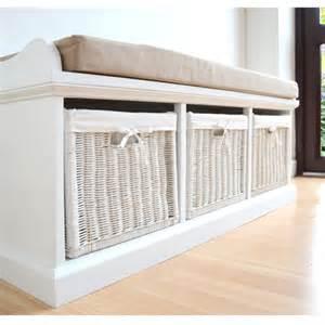 White Bench With Storage Bench With Storage Baskets On Storage Baskets Entryway B