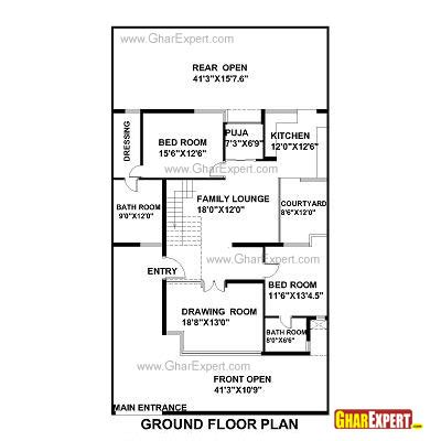 350 square foot house how big is 350 square feet house plan for 42 feet by 75