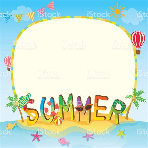 summer template summer template stock vector more images of