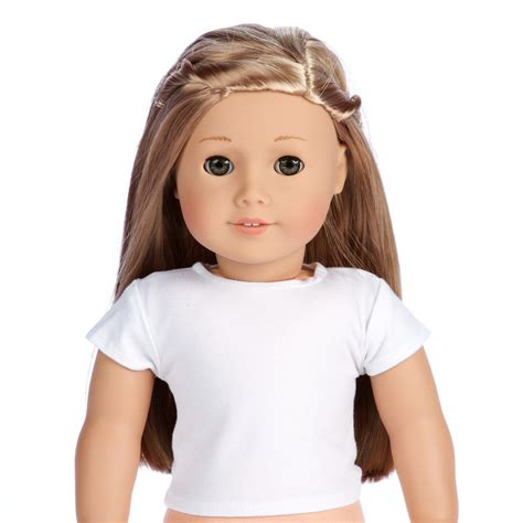 t dolls white t shirts doll clothes for 18 inch american
