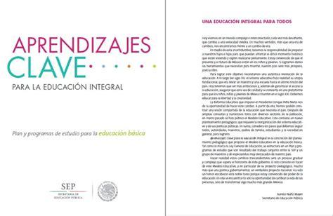 Modelo Curricular Planes Y Programas De La Educacion Basica En Plan Y Programas De Estudio Para La Educaci 243 N B 225 Sica Aprendizajes Clave Para La Educaci 243 N