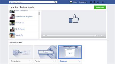 cara membuat facebook vidio cara membuat video ucapkan terima kasih facebook