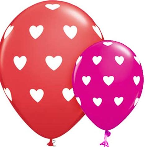 heart pattern balloons heart balloons heart shaped balloons party delights
