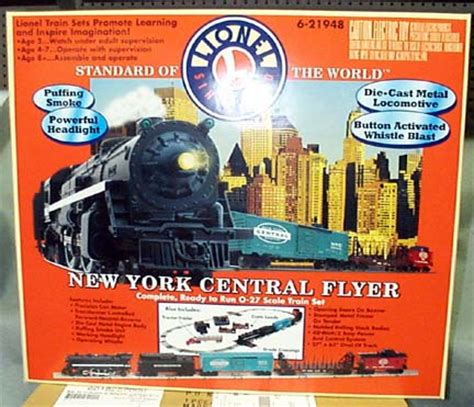 lionel 21948 new york central flyer freight set with whistle