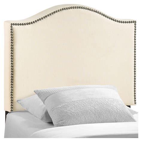 nailhead upholstered headboard curl twin nailhead upholstered headboard ivory dcg stores