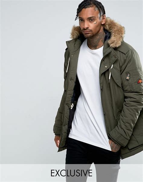 ellesse ellesse parka in green
