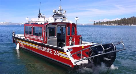 lake rescue boats lake assault fire boat preparing for duty with the tahoe