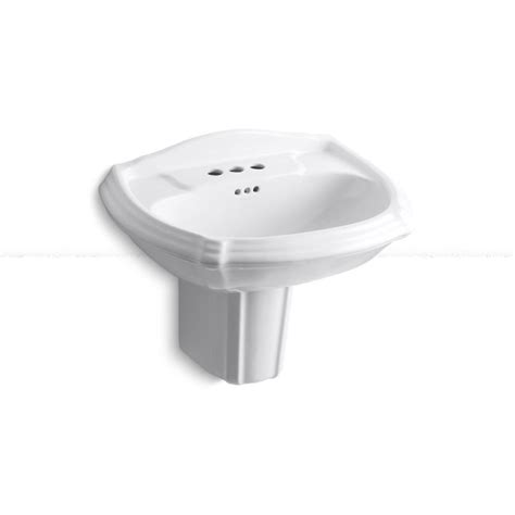 kohler portrait bathtub kohler portrait wall mount bathroom sink in white k 2226 4