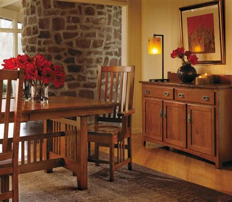 mission style dining room furniture by schrocks of walnut solid wood dining room sets mission style furniture