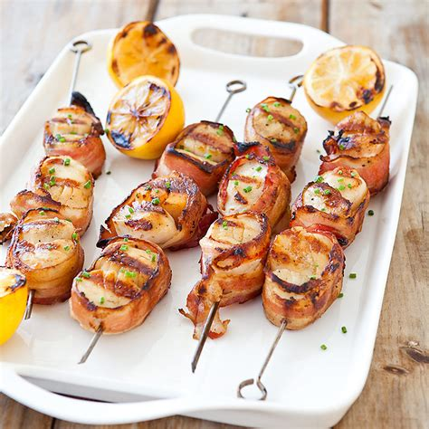 grilled bacon wrapped scallops cook s country