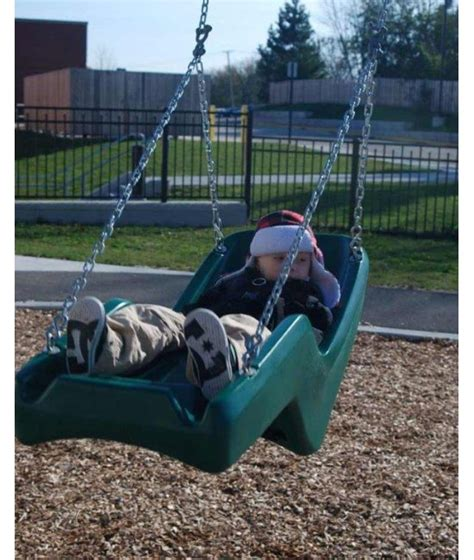 swings for disabled half bucket adult disabled seat with commercial chains