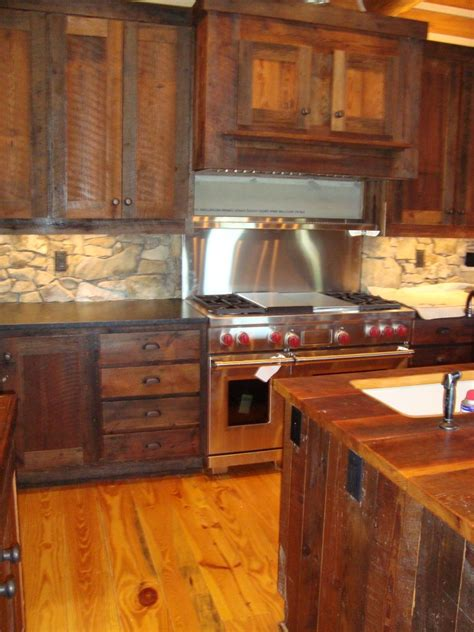 barn board kitchen cabinets rustic log furniture live edge wood littlebranch farm