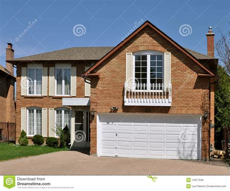 house over garage house with a room over the garage royalty free stock image