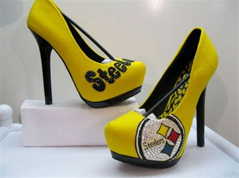 steelers high heels oh marvelous steelers heels with the swarovski crystals