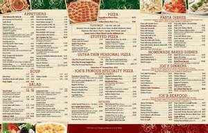 Pizza Menu Pizza Pasta Menu Joespizzany