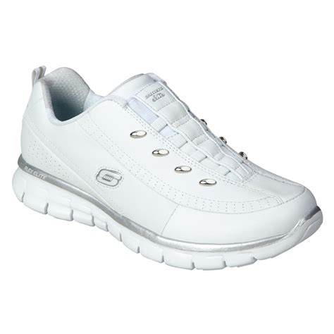 skechers s elite glam white athletic shoe