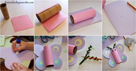 Butterfly Toilet Paper Roll Craft - craft for toilet paper roll butterfly