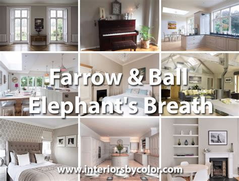 Ideas For Kitchen Tiles Farrow Amp Ball Elephant S Breath Interiors By Color