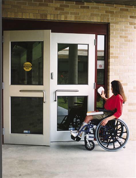 Handicap Door by Handicapped Door Handicapped Doors Ada Door Clearance