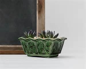 vintage green mccoy planter mccoy pottery green by
