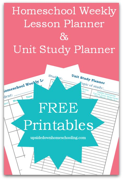 free printable homeschool lesson planners 9 best images of homeschool lesson planner printable