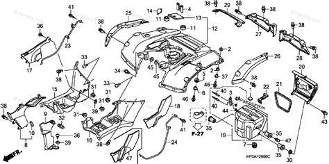 honda atv  oem parts diagram  rear fender partzillacom