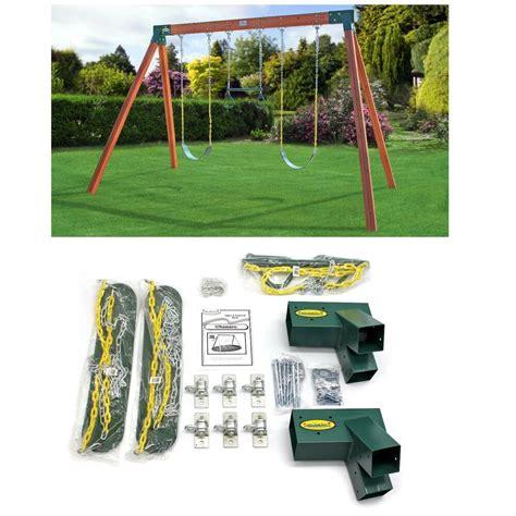 a frame swing set swing set hardware kit a frame classic free standing diy