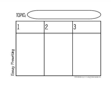 prewriting outline template graphic organizers for essay prewriting