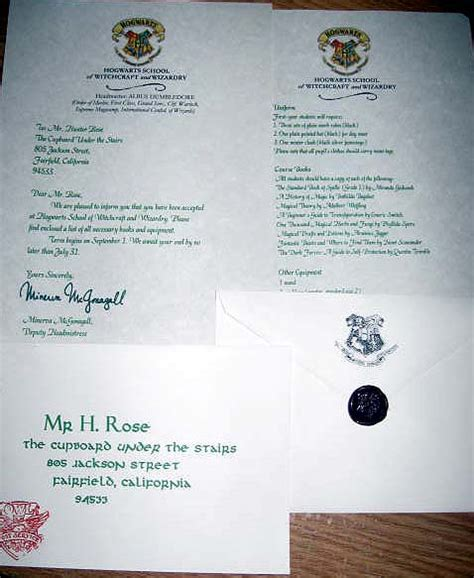 Hogwarts Acceptance Letter Wedding Invitation Capitol Inspiration Harry Potter Capitol Practical Local Dc Area Weddings