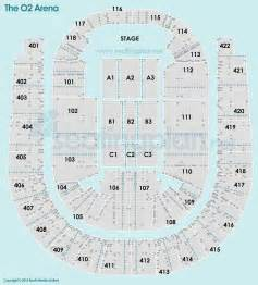O2 London Floor Plan by O2 Arena London Seating Plan